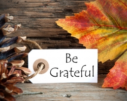 A POSITIVE MESSAGE:  PRACTICE GRATITUDE
